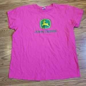 John Deere women's pink tshirt